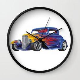 Mutant Art Hot Rod Wall Clock
