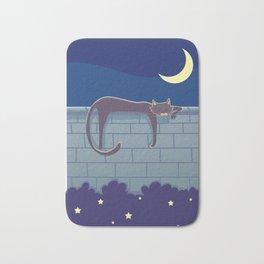 Cat on the wall Bath Mat