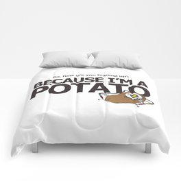 Hello Potato Portal 2 Comforters