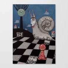 A Snaily Story Canvas Print