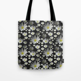 Daisies pattern as 3D texture Tote Bag