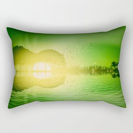 jungle music guitar Rectangular Pillow