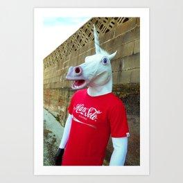 Mr Unicorn Art Print