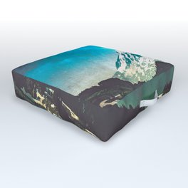 Mt Adams from Mt Rainier Washington State - Nature Photography Outdoor Floor Cushion