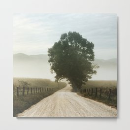 Cades Cove Tree of Life Landscape Photograph Gatlinburg Tennessee Metal Print