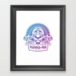 Mamma Mia Super Mario is-a Crazy Framed Art Print