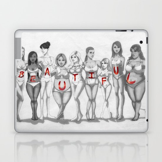 Beautiful Body Types Laptop & iPad Skin