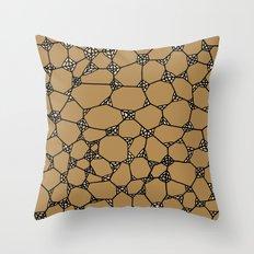 Yzor pattern 006-2 kitai beige Throw Pillow