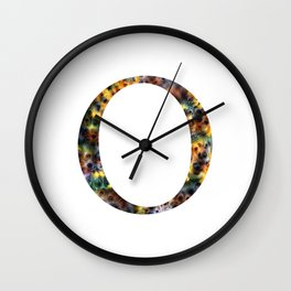 """Initial letter """"O"""" Wall Clock"""