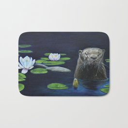 The River Otter by Teresa Thompson Bath Mat