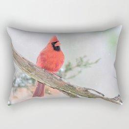 """""""Say What?"""" (Northern Cardinal) Rectangular Pillow"""