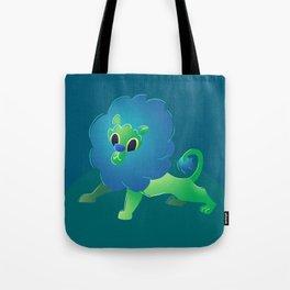 Cute Green Baby Cartoon Lion Tote Bag