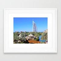 arab Framed Art Prints featuring Dubai - Burj Al Arab by Art-Motiva