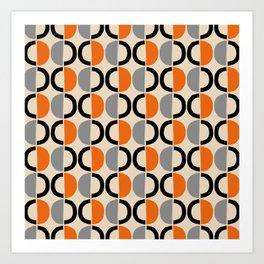 Mid Century Half Circle Pattern 121 Art Print
