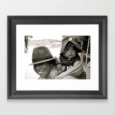 Ecuadorian Mother and Child Framed Art Print