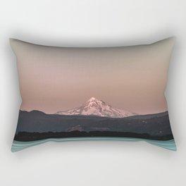 Pastel Peak - Mt. Hood over the Columbia Rectangular Pillow