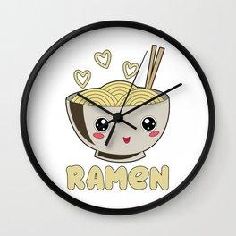 Ramen Love Japanese Noodle Soja Miso Soup Wall Clock