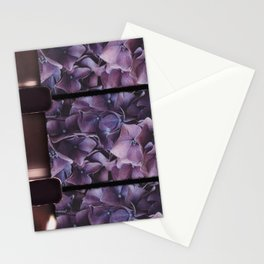 8mm vintage film strip Purple Geranium  Stationery Cards