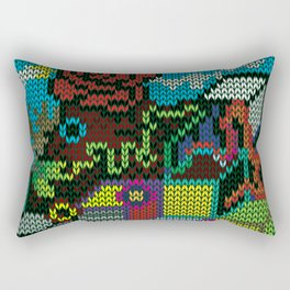 colorful rosedeer Rectangular Pillow
