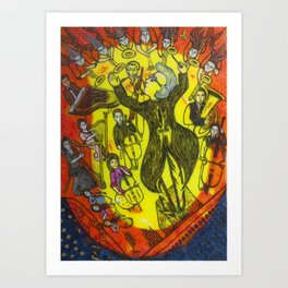 The great conductor Art Print