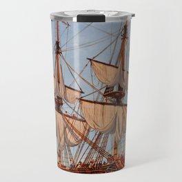 Revolutionary Painting of the Frigate Confederacy Travel Mug
