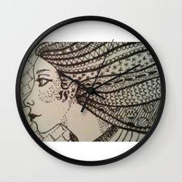 ZENTANGLE HAIR Wall Clock