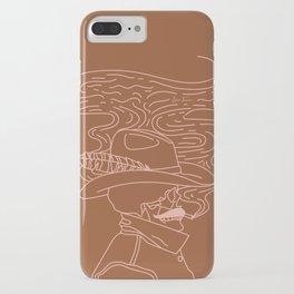 Love or Die Tryin' - Cowhand - Rust & Peach iPhone Case