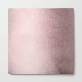 Simply Rose Gold Palace Metal Print