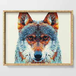 Wolf - Colorful Animals Serving Tray