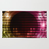 disco Area & Throw Rugs featuring Disco by frenkelvic