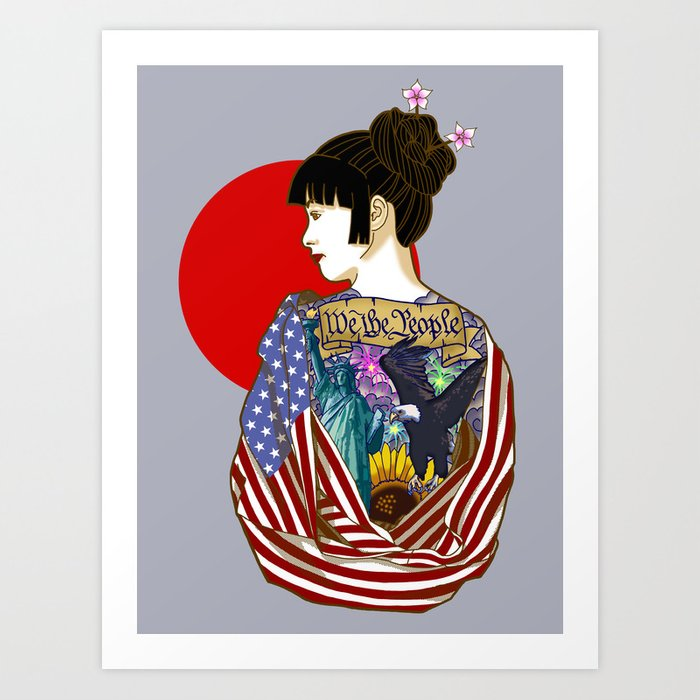 The Illustrated Woman Art Print