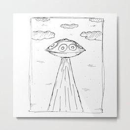 Handpan Hangdrum Pantam Alien Metal Print