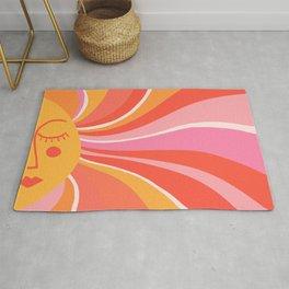 Sunshine Swirl – Pink & Peach Palette Rug