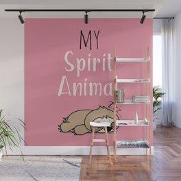 MY SPIRIT ANIMAL - Sleepy Sloth Wall Mural