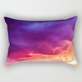 Beautiful Purple Sunset Sky Rectangular Pillow
