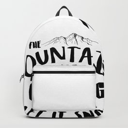 Mountains Are Calling Let it Snow Jackson Hole blk Backpack