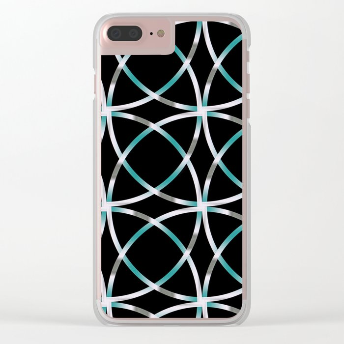 Intersecting Rings Fractal in TPGY Clear iPhone Case