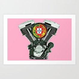 Portuguese pure evol hot  pink Art Print