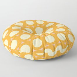 Dots and Triangles Yellow  #midcenturymodern Floor Pillow
