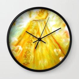 The Golden Glow Of Frienship Wall Clock
