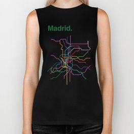 Madrid Transit Map Biker Tank