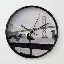 About to fly away Wall Clock