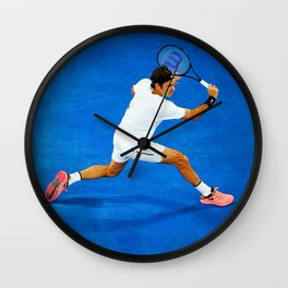 Roger Federer Sliced Backhand Wall Clock