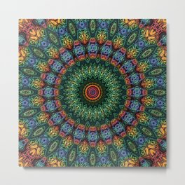 Polished Stone Mandala Metal Print