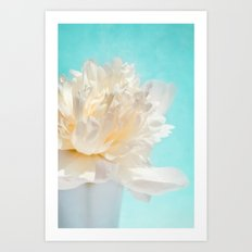 WHITE PEONY-DREAM Art Print
