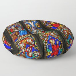 INRI Stained Glass Floor Pillow