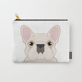 Frenchie - Cream Carry-All Pouch