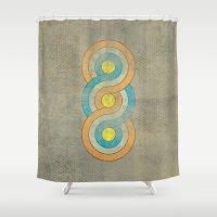 bioshock infinite Shower Curtains featuring Infinite by Metron