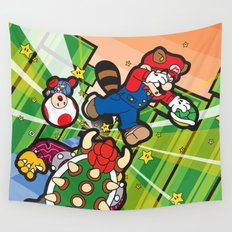 Inception Mario Wall Tapestry