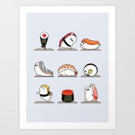 Sushi Yoga Art Print